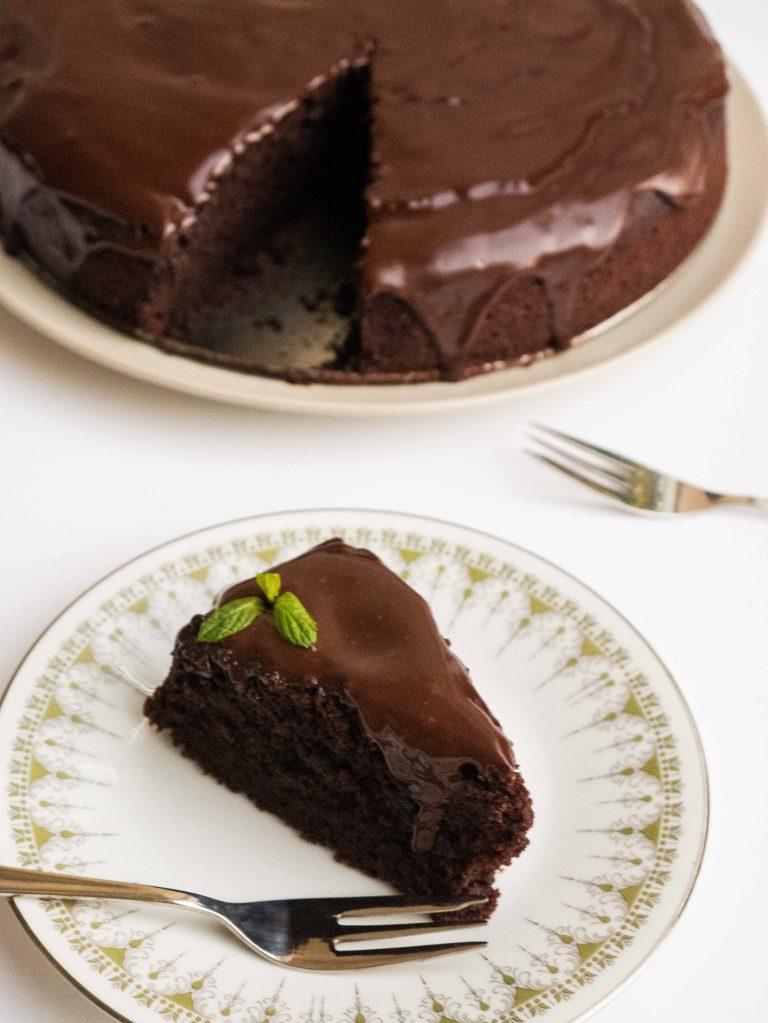 עוגת שוקולד - בהכנה